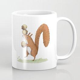 Squirrel With Acorns Coffee Mug