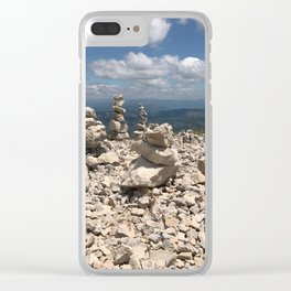 Stacked stones Clear iPhone Case