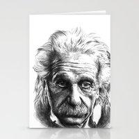 einstein Stationery Cards featuring Einstein by Jaume Tenes