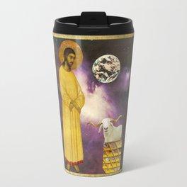 Jesus Christ, Earth, & Ram collage Travel Mug