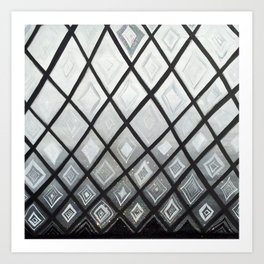 Woven Basket Diamonds Ombre #2 Art Print