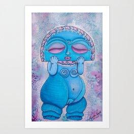 Diosa Luna (Taino Moon Goddess) Art Print