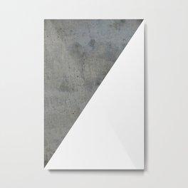 Geometrical Color Block Diagonal Concrete Vs White Metal Print