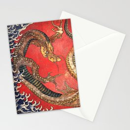 Dragon by Hokusai Stationery Cards