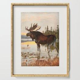 Vintage Moose Serving Tray