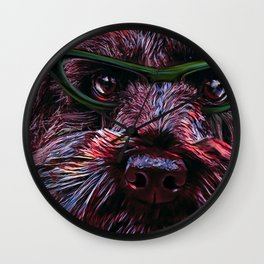 The Book Eater Wall Clock