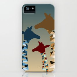 Abstract Colored Giraffe Family iPhone Case