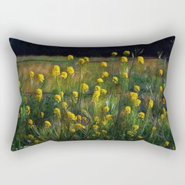 Along the Fence Row Rectangular Pillow