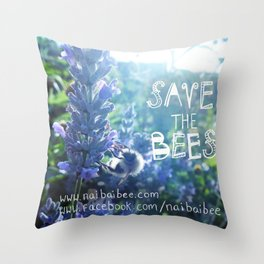 Save the Bees Campaign Throw Pillow