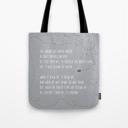 Pop Culture Nursery Rhymes: The Grand Old Darth Vader Tote Bag