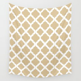 Brown rombs Wall Tapestry