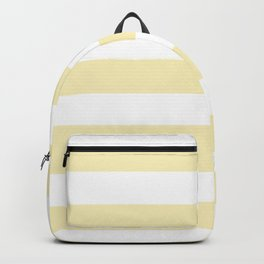 Blond - solid color - white stripes pattern Backpack