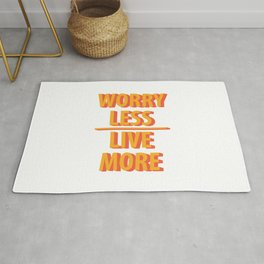 Live More Quotes Rug