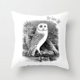 The Barn Owl / The White Owl Throw Pillow
