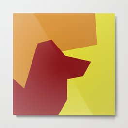 Minimalism Abstract Colors #5 Metal Print