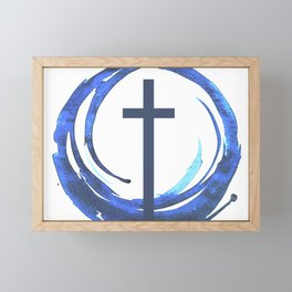 Circle Of Life - Cross Framed Mini Art Print