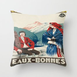 Vintage picture - France Throw Pillow