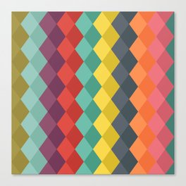 Rombs retro color Canvas Print