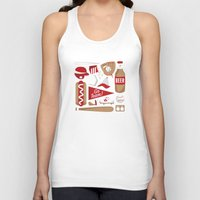 baseball Tank Tops featuring Baseball by Jessica Giles