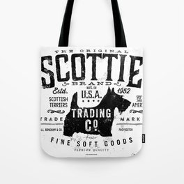 Scottie Trading company Scottish Terrier Dog soft goods vintage style graphic Tote Bag