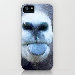 Watercolor Bighorn mask 02 iPhone Case