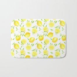 Lemons and leaves  Bath Mat