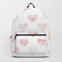 Pink Marble Hearts Backpack