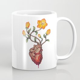 THIS BLEEDING BLOSSOMING HEART: ORANGE WILD ROSE Coffee Mug