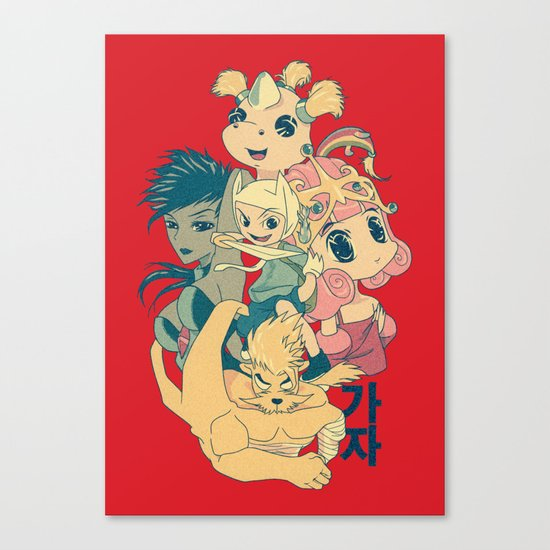Adventure Time - Manga Take Canvas Print