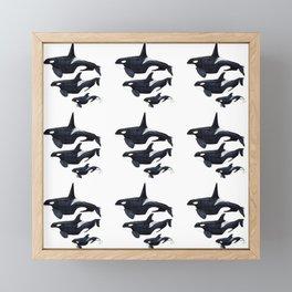 Orca design Framed Mini Art Print