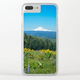 Mount Hood from Tom McCall Preserve Clear iPhone Case