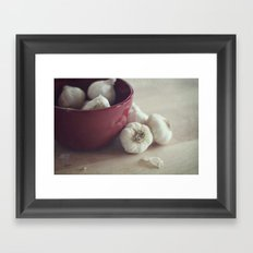 Garlic Framed Art Print
