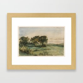 John Constable 1776–1837   Landscape, trees and meadows. Framed Art Print