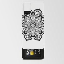 Black and White Flower Android Card Case