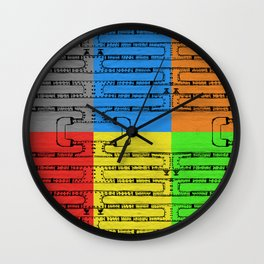 Pipeline Colors Wall Clock
