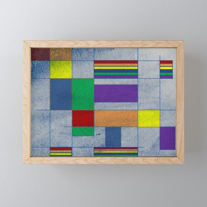 Mid-Century Modern Art - Rainbow Pride 1.0 Framed Mini Art Print