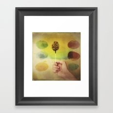Once Upon a Time a Colorful Candy Framed Art Print