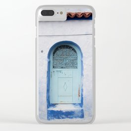Doors - Chefchaouen V, The Blue City - Morocco Clear iPhone Case