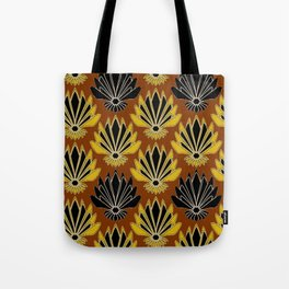 ART DECO YELLOW BLACK COFFEE BROWN AGAVE ABSTRACT Tote Bag
