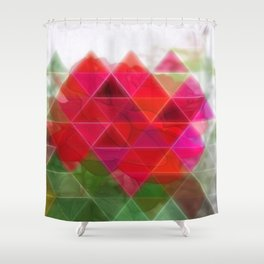 Red Rose Edges Art Triangles 1 Shower Curtain