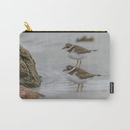 Pair of Plovers on the beach Carry-All Pouch