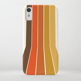 Righteous - 70s style throwback rainbow art 1970s minimalist art iPhone Case