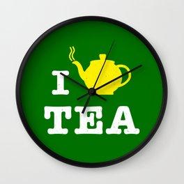 I heart Tea Wall Clock
