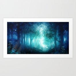 Blue forrest Art Print