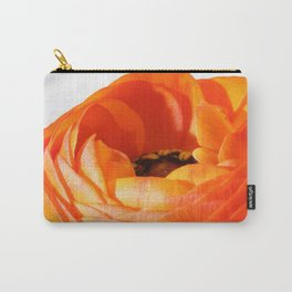Orange Poppy on White - Sharp #1 Carry-All Pouch