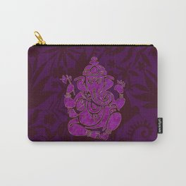 Ganesha Elephant God Purple And Pink Carry-All Pouch