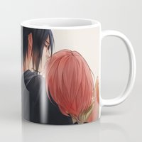 sasuke Mugs featuring Chu by ilaBarattolo