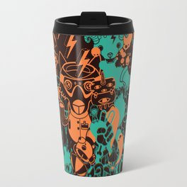 Dream Factory Orange and Blue Travel Mug