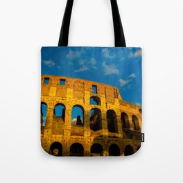 Sunset Over The Roman Colosseum Tote Bag