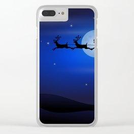 Santa's sleigh ride Clear iPhone Case